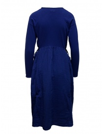 Kapital long sleeve electric blue cotton dress