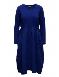 Kapital long sleeve electric blue cotton dress online