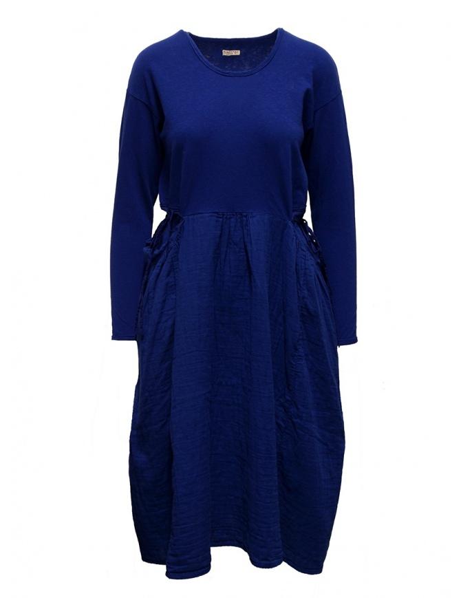Abito Kapital in cotone blu elettrico manica lunga EK-463-BLUE abiti donna online shopping