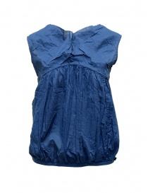 Camicie donna online: Canotta Kapital blu navy a palloncino