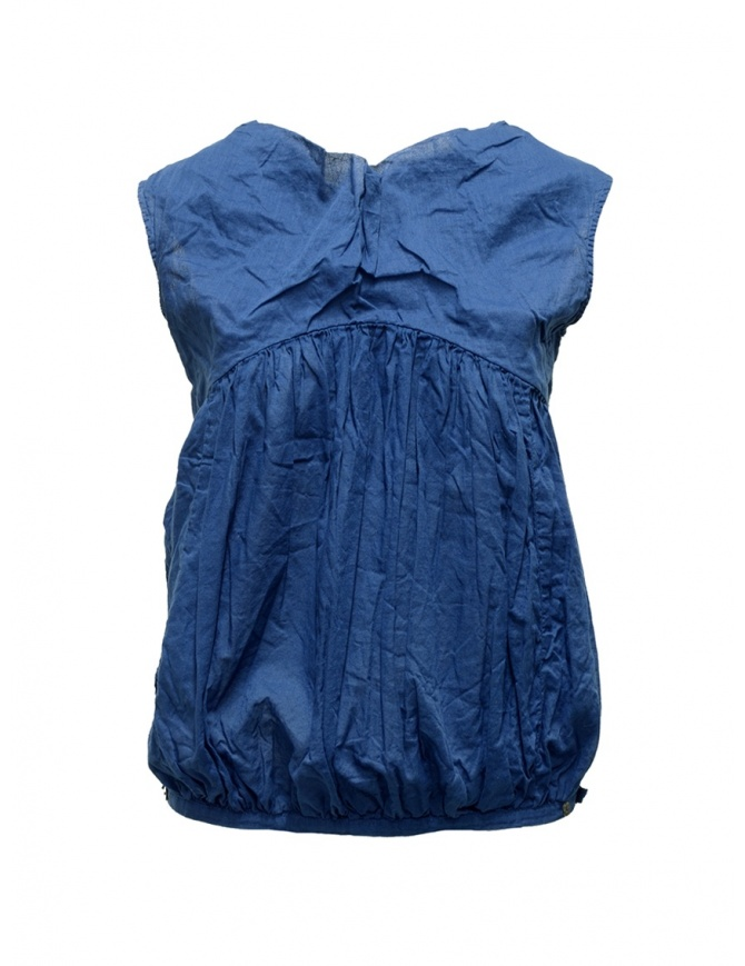 Canotta Kapital blu navy a palloncino K1804SS185 NAVY CAMISOLE camicie donna online shopping