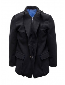 Kapital navy coat with printed lining