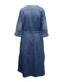 Kapital indigo long dress with golden buttons