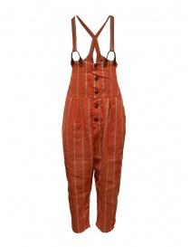 Pantaloni donna online: Salopette Kapital rossa a righe