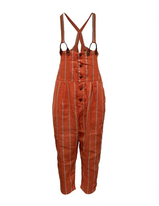 Salopette Kapital rossa a righe K1903OP037 RED pantaloni donna online shopping