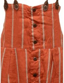 Salopette Kapital rossa a righe pantaloni donna acquista online