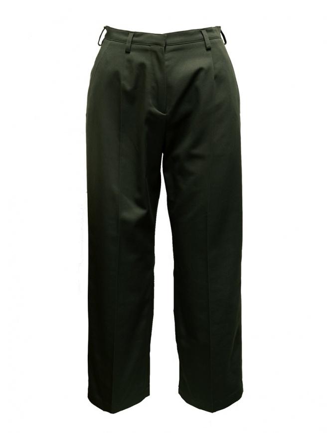 Cellar Door Chocta moss green trousers CHOCTA-HQ048 77 MUSCHIO womens trousers online shopping