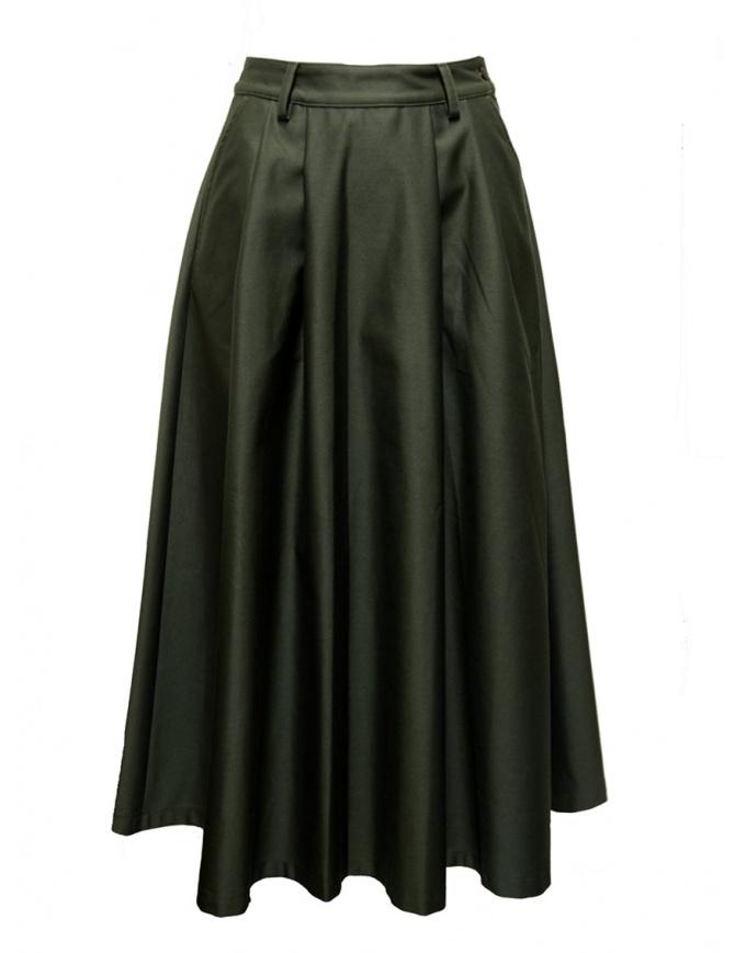 Cellar Door TinTin moss green skirt TIN TIN-HL048 77 MUSCHIO womens skirts online shopping