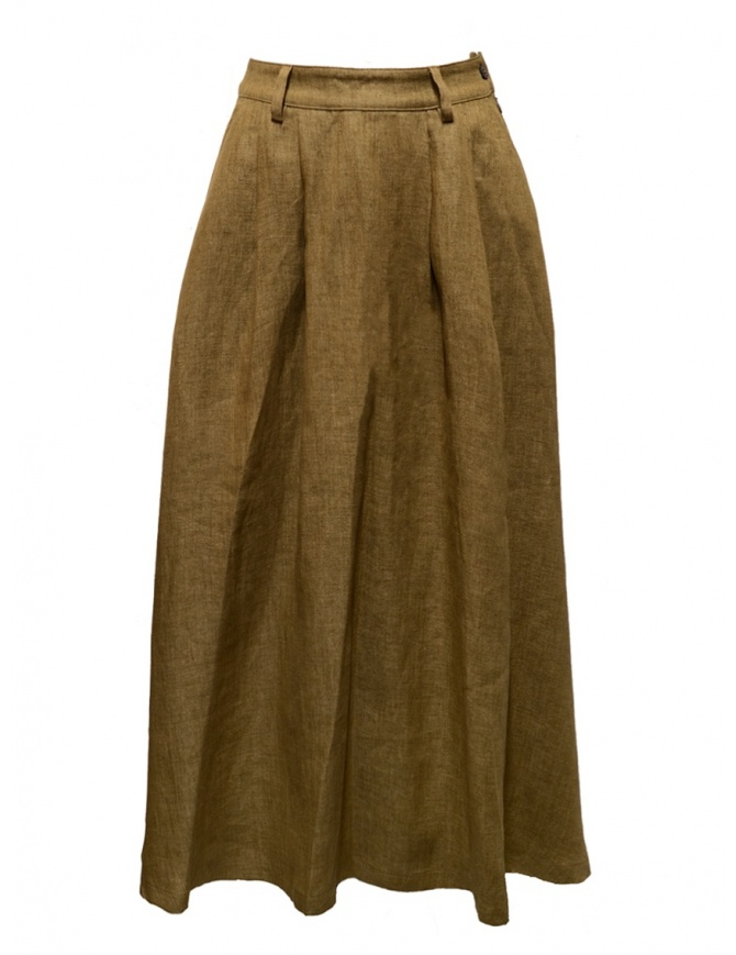 Cellar Door TinTin cookie beige skirt TIN TIN-HL058 07 BISCOTTO womens skirts online shopping