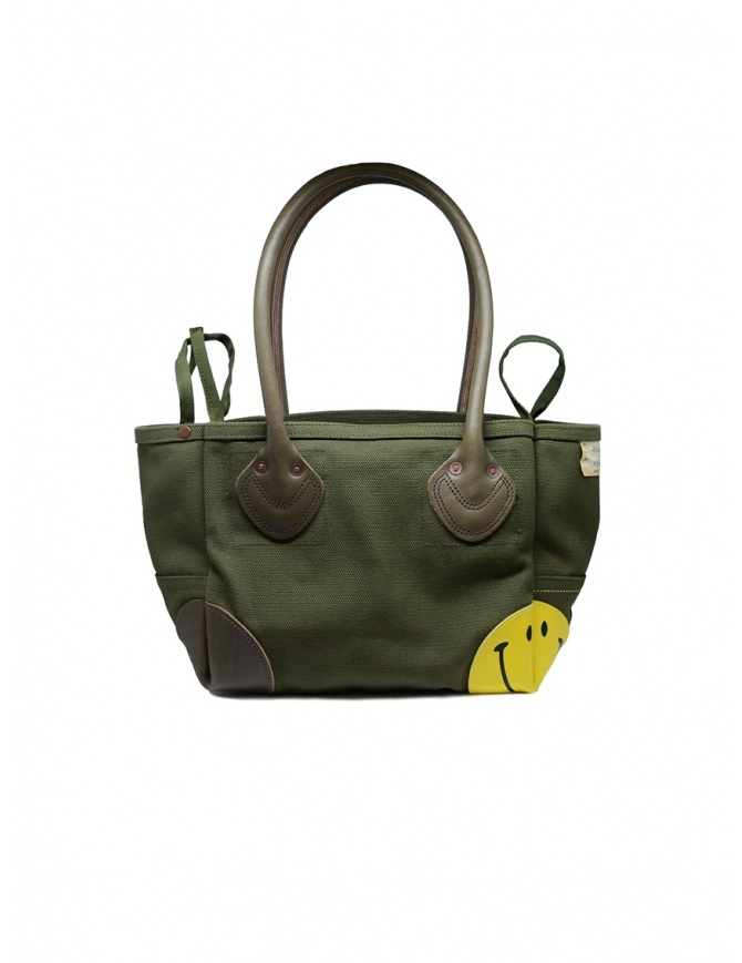 Kapital khaki bag with smiley K1903XB505 KHA bags online shopping
