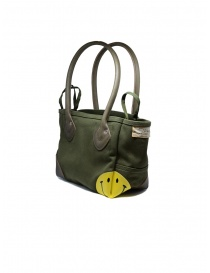 Kapital khaki bag with smiley