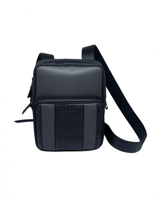 Tardini alligator leather and carbon fiber small bag A6T349/37 BORSELLO PICC.TRAC. bags online shopping