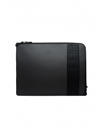 Tardini alligator leather and carbon fiber document case online