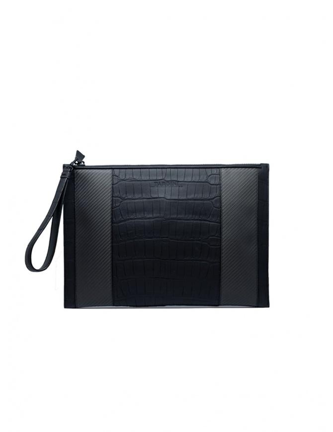 Tardini alligator leather and carbon fiber envelope bag A6T334/37 BUSTA GRANDE bags online shopping