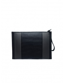 Tardini alligator leather and carbon fiber envelope bag