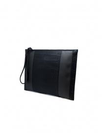 Tardini alligator leather and carbon fiber envelope bag price