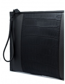 Tardini alligator leather and carbon fiber envelope bag bags buy online