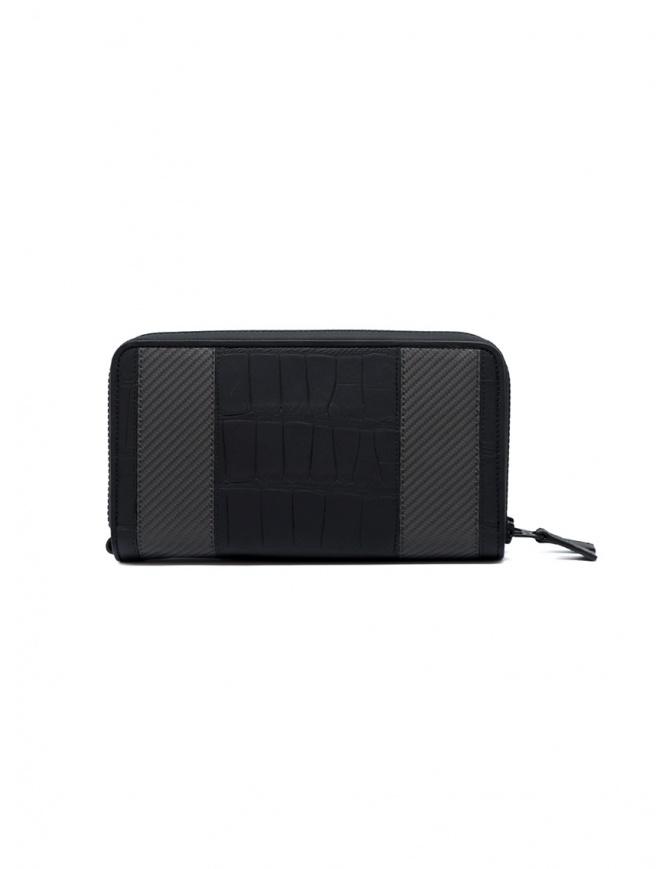 Portadocumenti Tardini in pelle di alligatore fibra di carbonio A6T340/37 PORTADOC. 2 LAMPO gadget online shopping