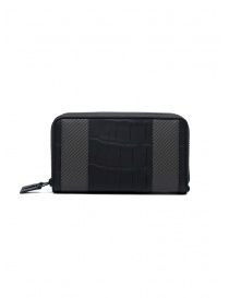 Tardini alligator leather carbon fiber document case