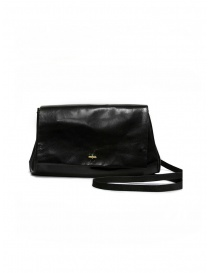 Delle Cose 80 Horse Black Polish Shoulder Bag 80 HORSE BLK 26 POLISHED