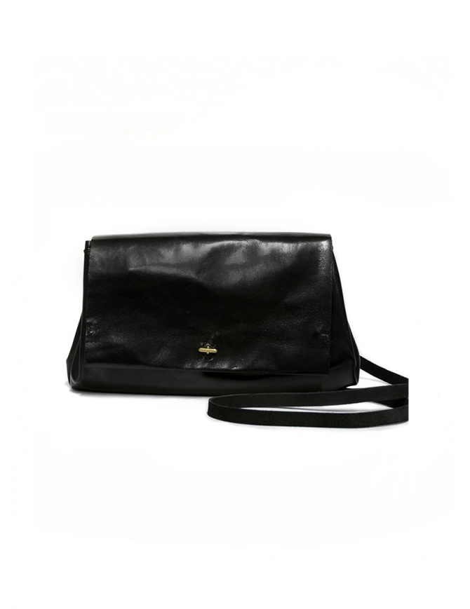 Delle Cose 80 Horse Black Polish Shoulder Bag 80 HORSE BLK 26 POLISHED bags online shopping