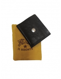 Il Bisonte black leather small wallet online