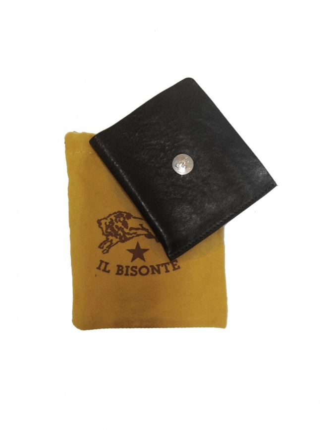 Il Bisonte black leather small wallet C0646 P NERO wallets online shopping