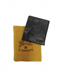 Il Bisonte black leather small wallet