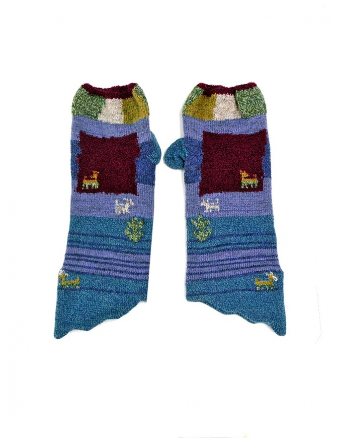 Kapital blue and purple gloves K1510XG380 BLUE gloves online shopping