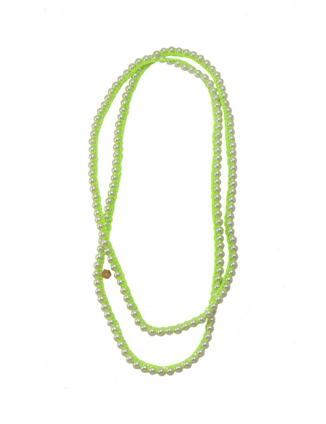 Annette Weisser bright green necklace NLGLASS95/46 YELLOW jewels online shopping