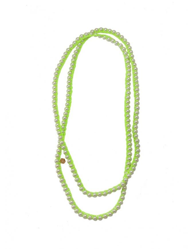 Collana Annette Weisser verde evidenziatore NLGLASS95/46 YELLOW preziosi online shopping