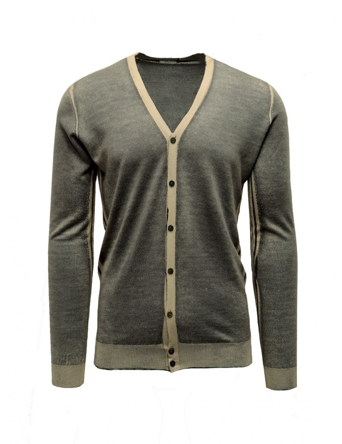 Adriano Ragni grey and baige striped cardigan 1618007 01 ST 16/215 mens cardigans online shopping
