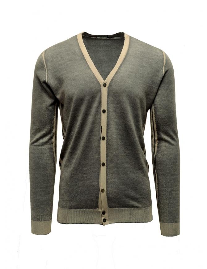 Cardigan Adriano Ragni rigato grigio e beige 1618007 01 ST 16/215 cardigan uomo online shopping