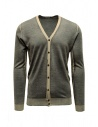 Adriano Ragni grey and baige striped cardigan buy online 1618007 01 ST 16/215