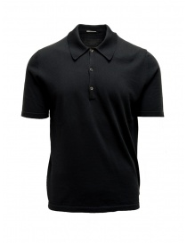 Adriano Ragni black polo shirt 8ARTS07 CO131 RG 8/12 order online