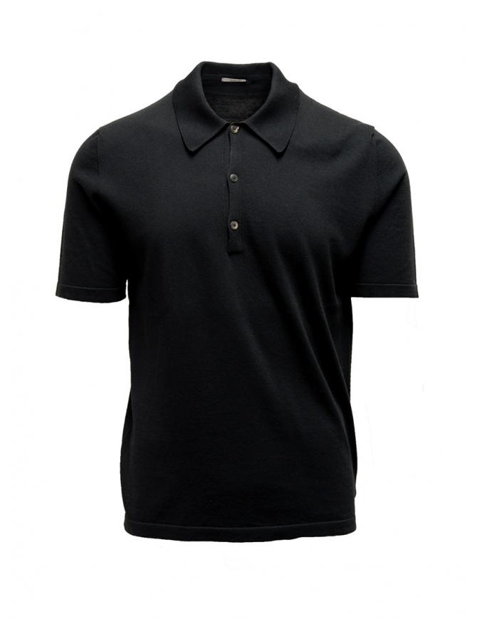 Adriano Ragni black polo shirt 8ARTS07 CO131 RG 8/12 mens t shirts online shopping
