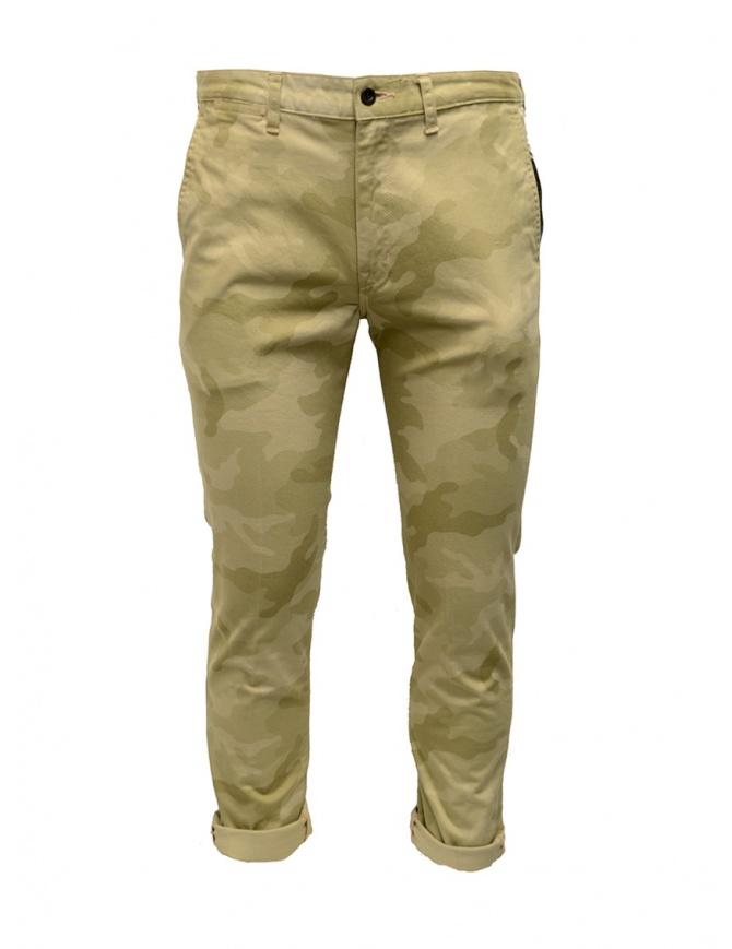 Pantaloni Japan Blue Jeans beige mimetico JB4100 CAMO pantaloni uomo online shopping