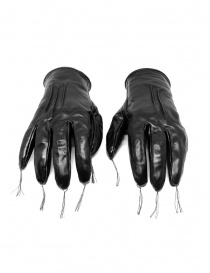 Carol Christian Poell black kangaroo leather gloves with tassels