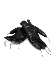 Carol Christian Poell black kangaroo leather gloves with tassels price