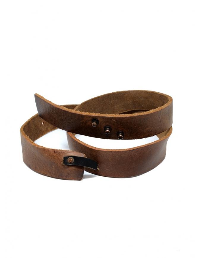 Cintura cuoio marrone Alexander Fielden BT003 GROSSED BROWN cinture online shopping