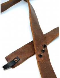 Cintura cuoio marrone Alexander Fielden prezzo