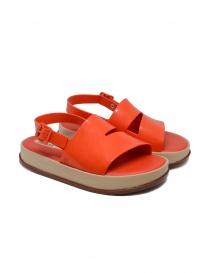Calzature donna online: Sandalo Melissa rosso corallo