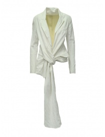 Womens suit jackets online: Marc Le Bihan knotted white jacket
