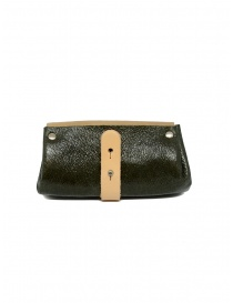 Delle Cose beige and khaki calf leather wallet