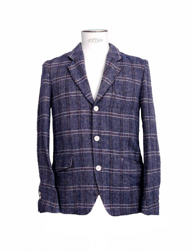 08SIRCUS purple checkered suit jacket JK09B-50 mens suit jackets online shopping
