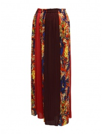 Zucca floral red trousers
