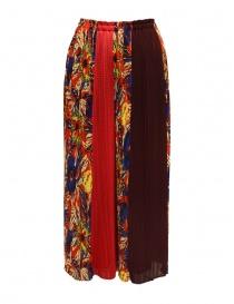 Pantaloni Zucca rossi a fiori ZU97FF130 RED order online