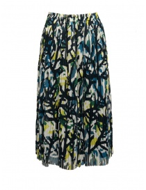 Womens skirts online: Zucca green skirt with corals