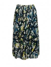 Zucca green skirt with corals ZU97FG122 GREEN order online