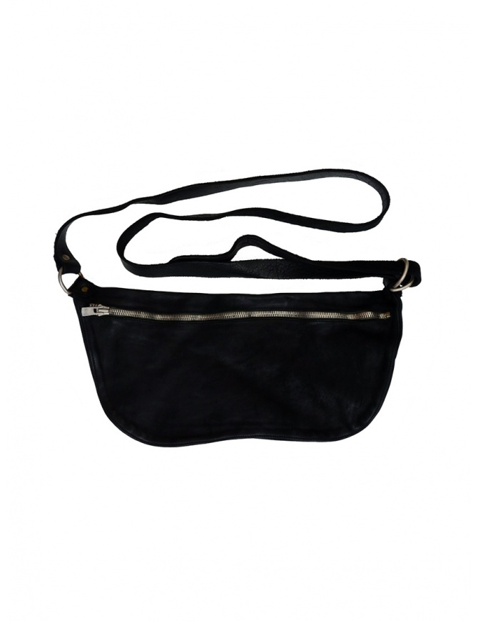 Guidi black horse leather fanny pack Q10M SOFT HORSE FULL GRAIN BLKT belts online shopping